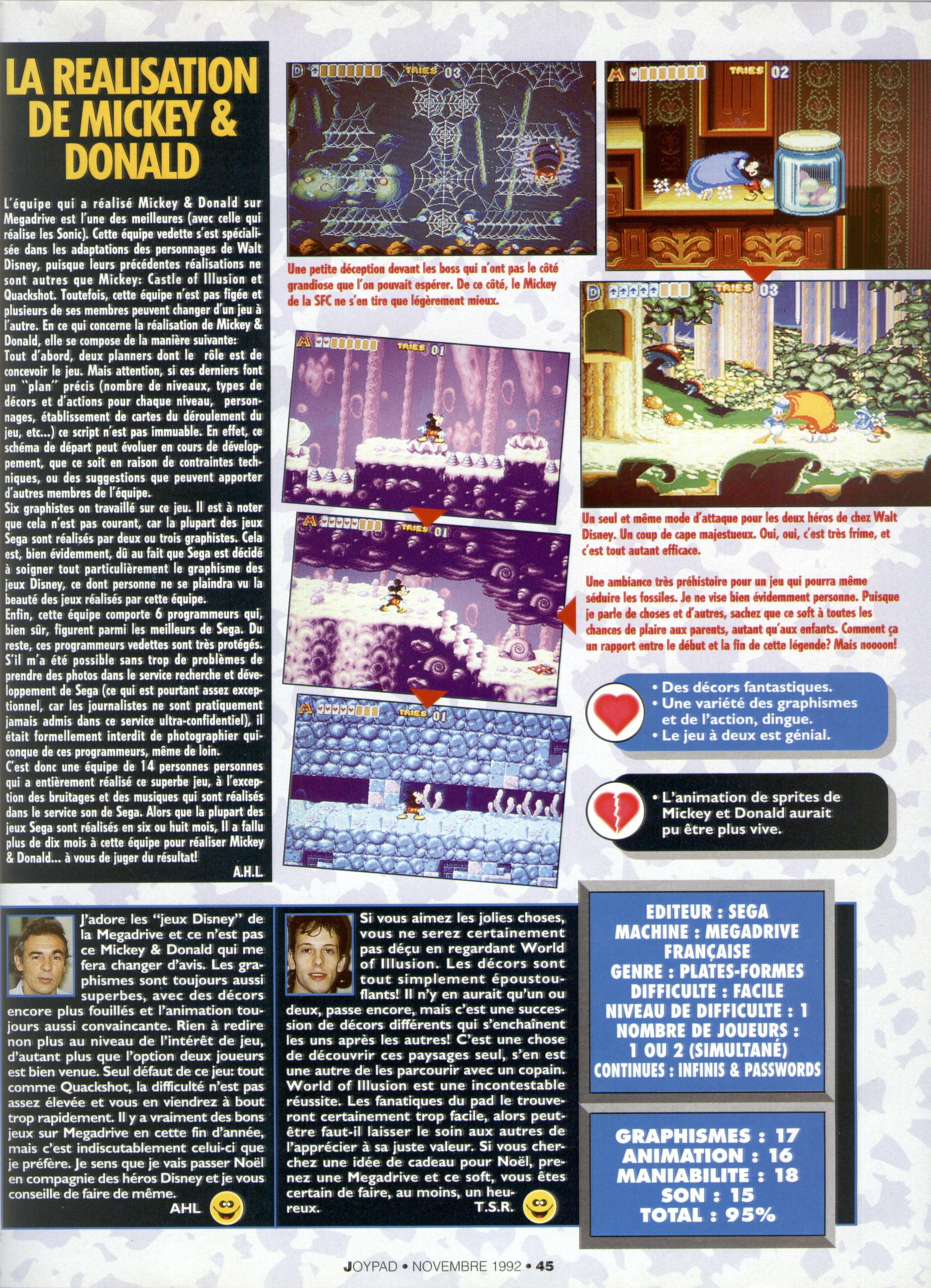 [Sondage] Le meilleur jeu Disney sur Mega Drive - Page 2 Joypad%20014%20-%20Page%20045%20%281992-11%29