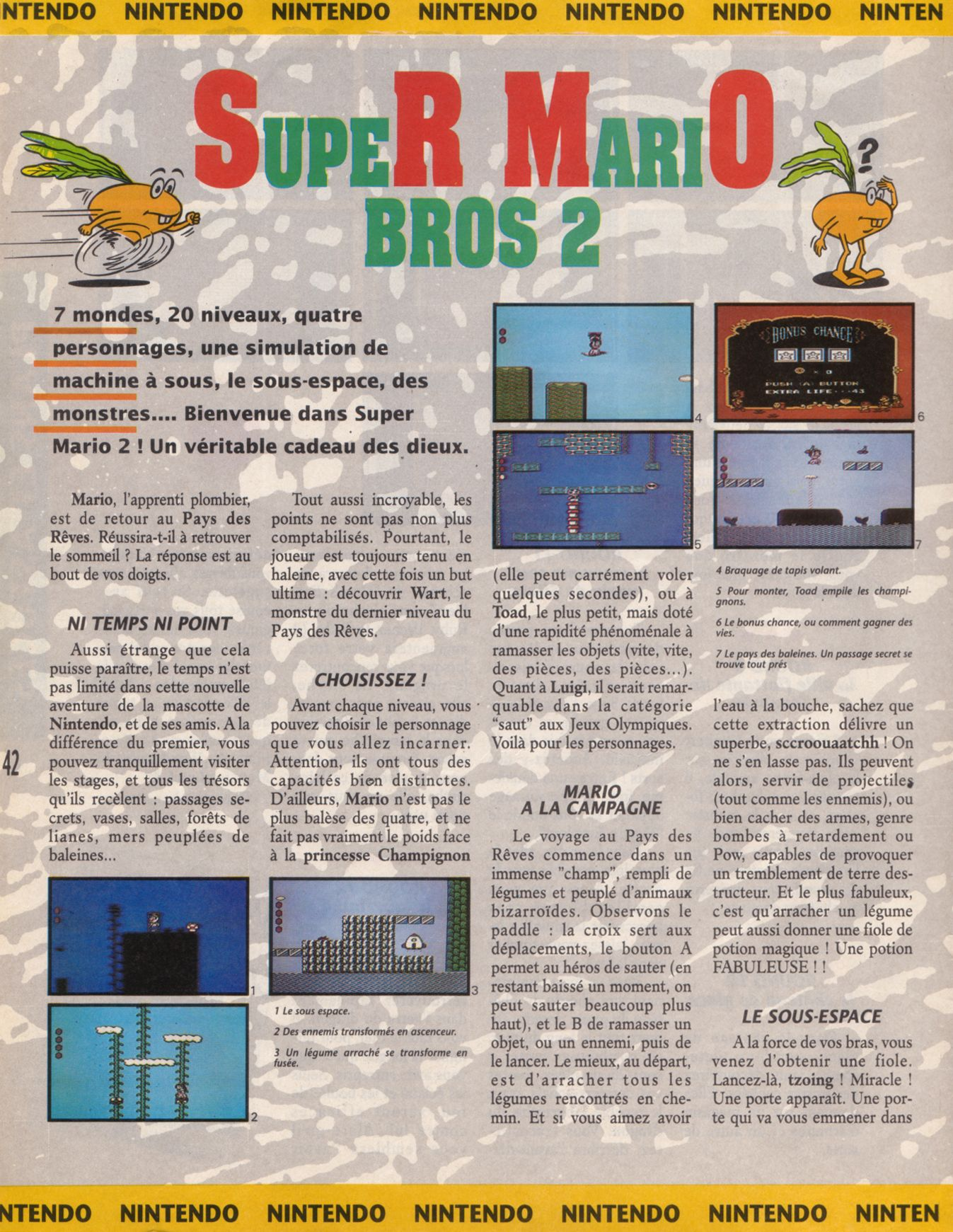[JEUX]   SUPER MARIO BROS 2 (NES) 1988. Player%20One%20001%20-%20Page%20042%20(1990-09)