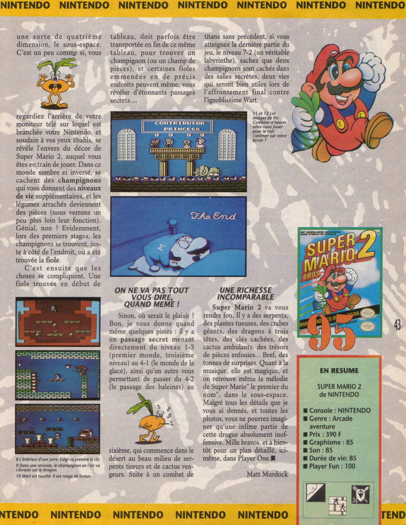 [JEUX]   SUPER MARIO BROS 2 (NES) 1988. Player%20One%20001%20-%20Page%20043%20(1990-09)