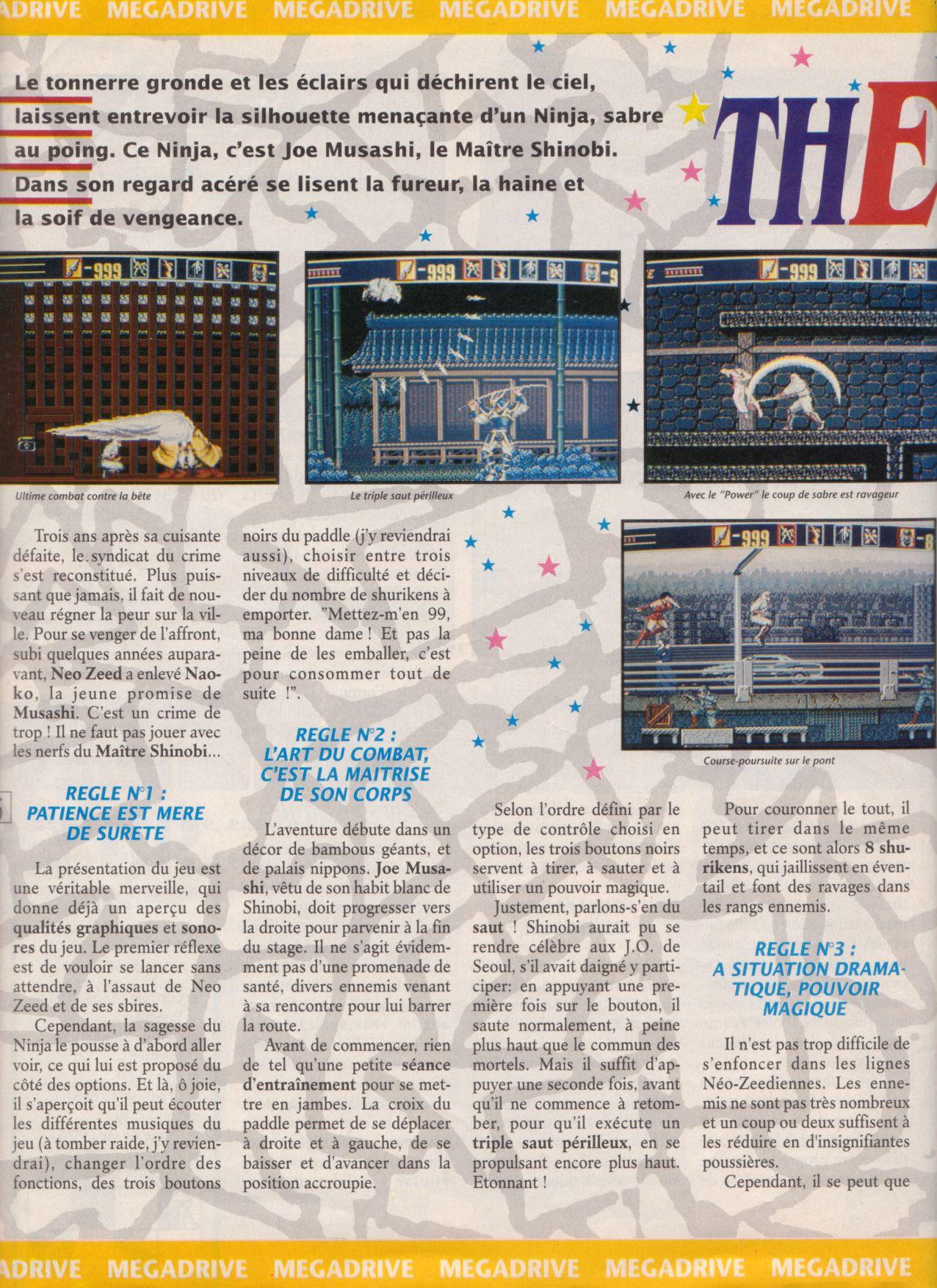 [Jeux]   THE REVENGE OF SHINOBI (Megadrive ) 1989. Player%20One%20002%20-%20Page%20036%20(1990-10)
