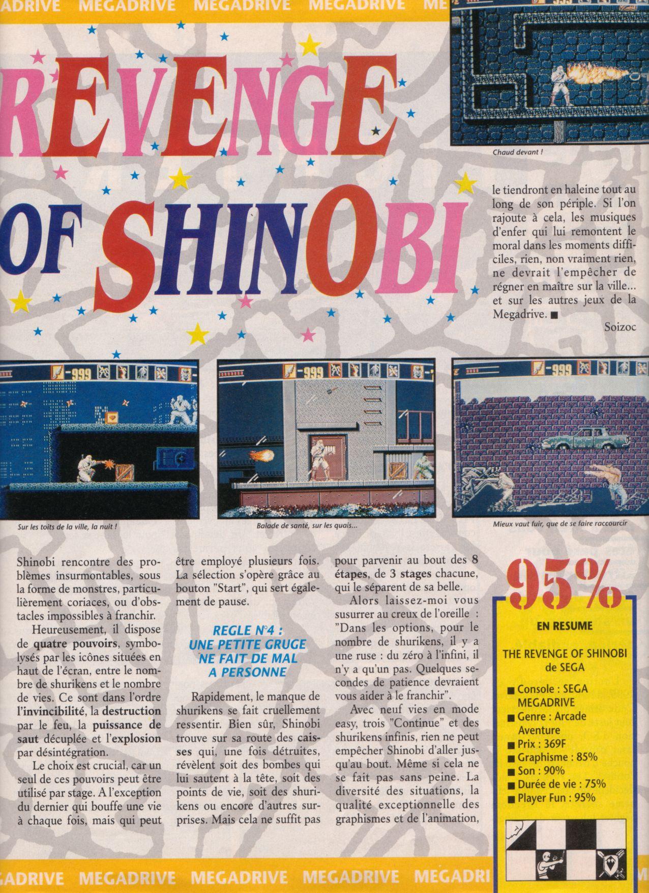 [Jeux]   THE REVENGE OF SHINOBI (Megadrive ) 1989. Player%20One%20002%20-%20Page%20037%20(1990-10)