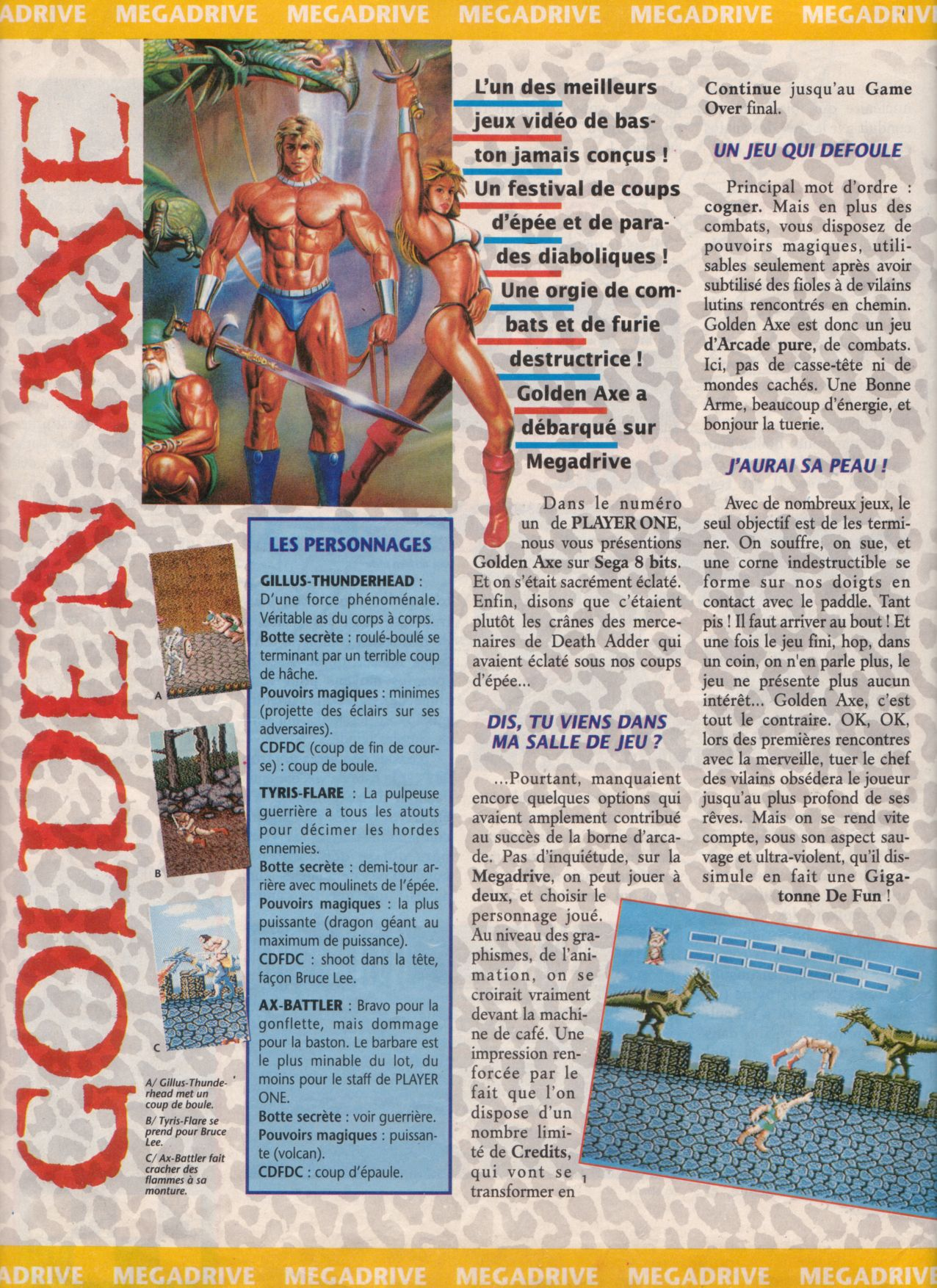 [Jeux] GOLDEN AXE (Mega Drive) 1989. Player%20One%20003%20-%20Page%20038%20(1990-11)