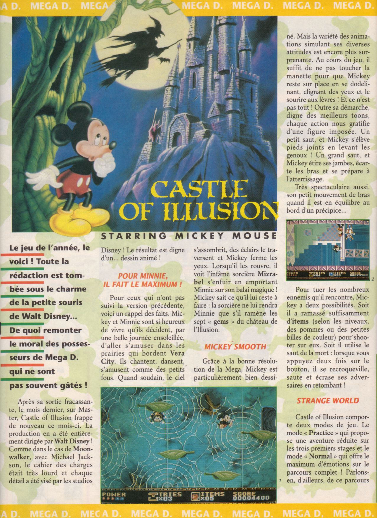 [Jeux]   CASTLE OF ILLUSION (Mega Drive) 1990. Player%20One%20008%20-%20Page%20022%20(1991-04)