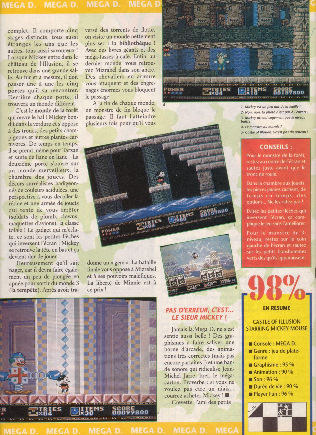 [Jeux]   CASTLE OF ILLUSION (Mega Drive) 1990. Player%20One%20008%20-%20Page%20023%20(1991-04)