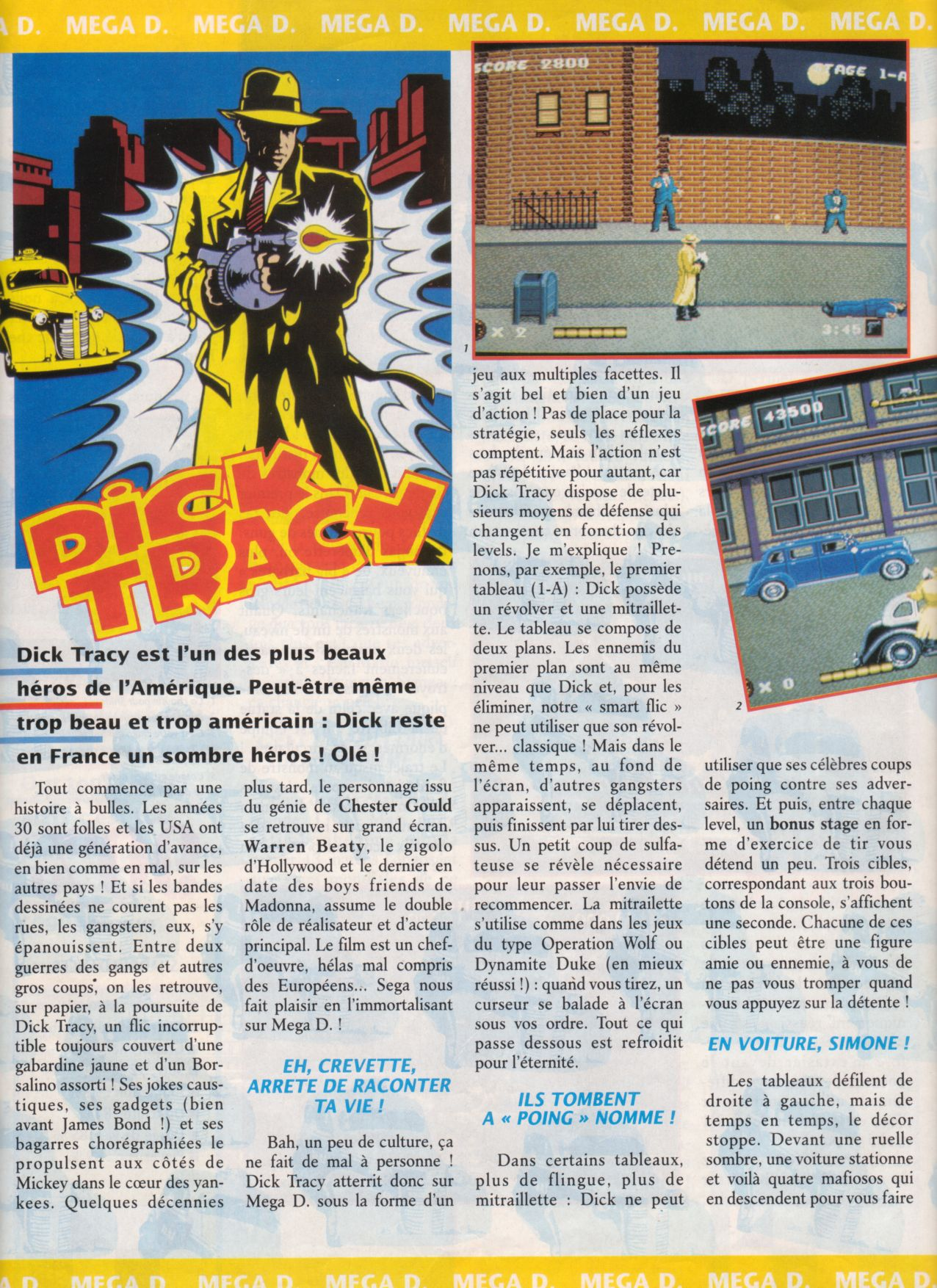 [Jeux]   DICK TRACY (Megadrive) 1990.  Player%20One%20010%20-%20Page%20028%20(1991-06)