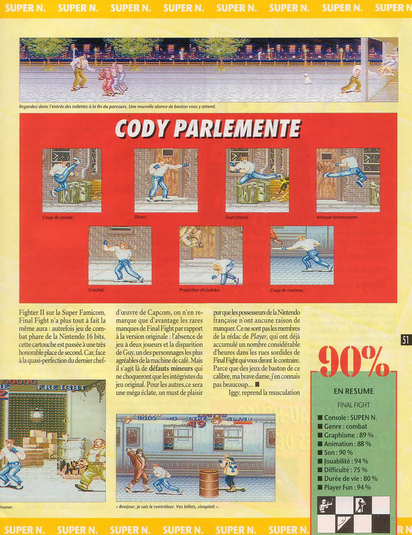 MEGADRIVE vs SUPER NINTENDO : Fight ! - Page 27 Player%20One%20023%20-%20Page%20051%20%281992-09%29