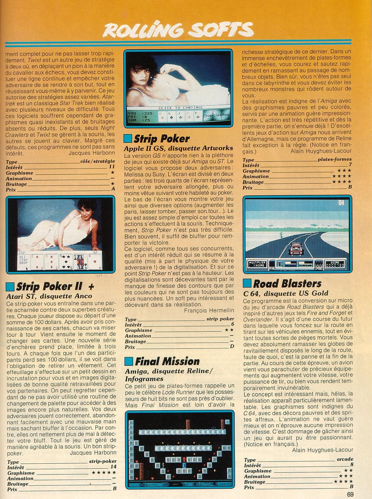 RoadBlasters for Amiga (1988) MobyRank - MobyGames